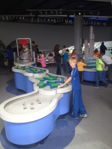 The kids loved playing in the water section.