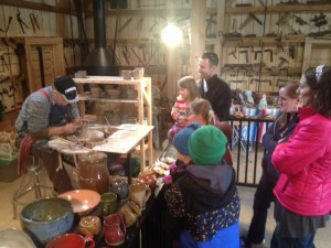 We all enjoyed getting to watch pottery being made.
