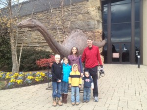 Us in front of the Creation Museum