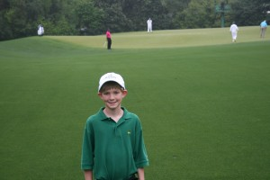 Austin with Tiger in the background.